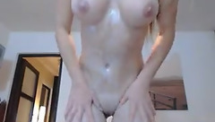 Alesia_ rubbing themselves with cream