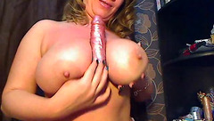 Plump and tight blonde Lleea is spreading legs and fingering cunt