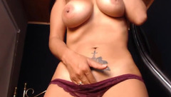 Burning hot Fergy21 is showing big tits and masturbating cunt with vibrator