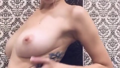 Steaming hot blonde MikaKisa66624 with sexy tattoo is showing beautiful boobs to the webcam