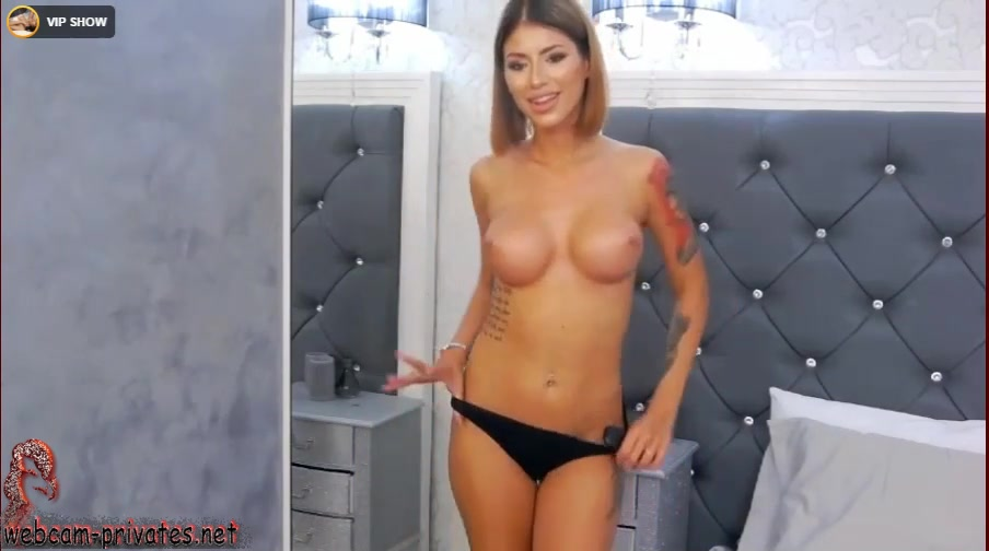 Amazingly sexy webcam girl Provocativenicky is taking off her red dress and black panties in front of the webcam