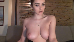 Awesome sexy shaped brunette MsKate__ is showing beautiful boobs to the webcam