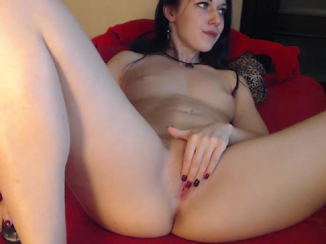 Steaming hot tight brunette Nikispot is having webcam sex chat for money and stroking pussy
