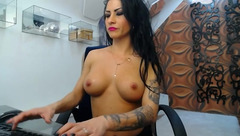 Raven-haired cam babe DivaClarra is waiting for randy guys with a lot of tokens