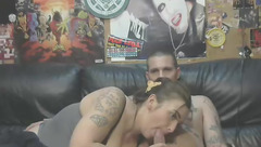 Higherthanbirdpussy: Blowjob on a black couch