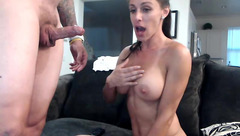 Hot lady Fitprincess sucks cock